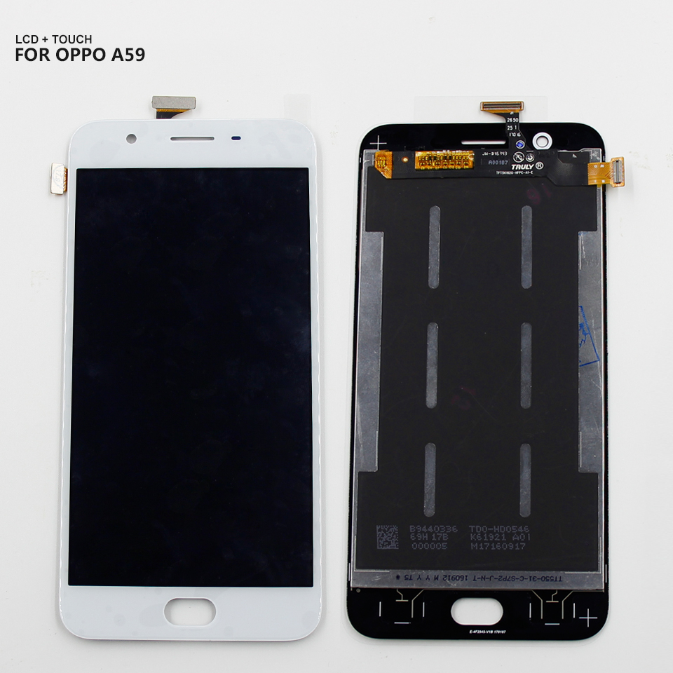 AAA LCD For Oppo A1601 F1S A59 LCD Display Touch Screen Digitizer Glass Panel Assembly + Frame + Tools
