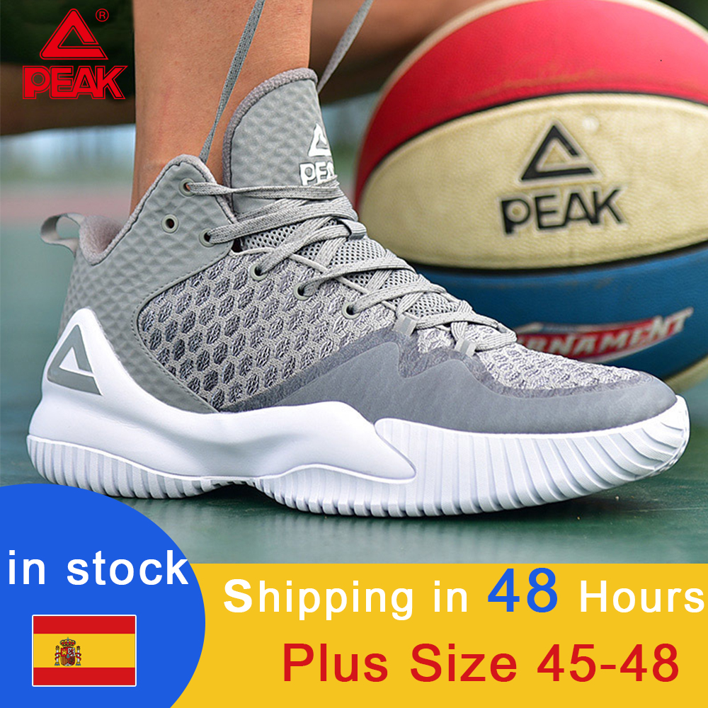 PEAK Wearable Basketball Sneakers Rebound Gym 2019 Professional Outdoor Anti-slip Sports Shoes Breathable Mesh Basketball Shoes