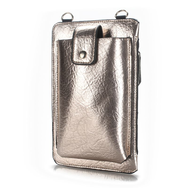 Women Girls Crossbody Mobile Phone Shoulder Bag Pouch Case Credit Card Purse Wallet in Wallets from Luggage Bags