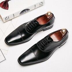 Zapatos formales de cuero genuino de vaca para Hombre Zapatos italianos de alta calidad de diseño clásico elegantes zapatos oxford de lujo para hombre # KB3004-2