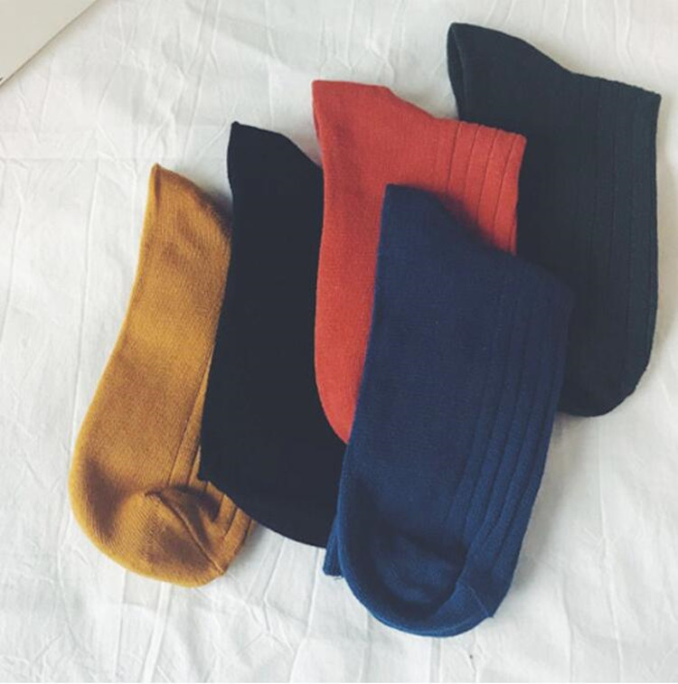 Ani-B8 Autumn Winter Warm Cotton Socks Fashion Women Tube Socks Solid Color