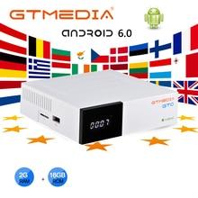 GTMEDIA GTC Satellite TV Receiver DVB S2 DVB C DVB T2 android 6.0 TV BOX 2GB 16GB Support M3U Function Set Top Box decoder