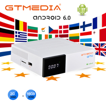 Gtmedia gtc衛星テレビ受信機DVB S2 DVB C DVB T2 アンドロイド 6.0 テレビボックス 2 ギガバイト 16 ギガバイトヨーロッパclines M3Uセットトップボックスデコーダ
