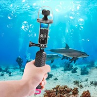 Shell Handheld Protective Case Floating with Buoyancy Stick Camera Diving Accessories Waterproof for DJI Osmo Action
