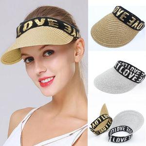 Женская широкополый Козырек Кепка женская летняя пляжная соломенная Солнцезащитная шляпа теннис Гольф