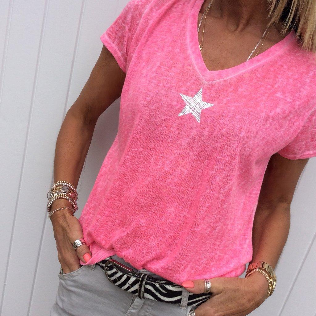 Fashion V-neck Short Sleeve Pentagram Print T Shirt Women 2019 Summer Plus Size 5xl Tops Tshirt T-shirt Tee Shirt Femme S-5XL