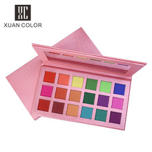 Hot Sale Makeup Pink Kemasan 18 Warna Eyeshadow dengan Cermin Tahan Air Matte Warna-warni Wanita Palet Eye Shadow(China)