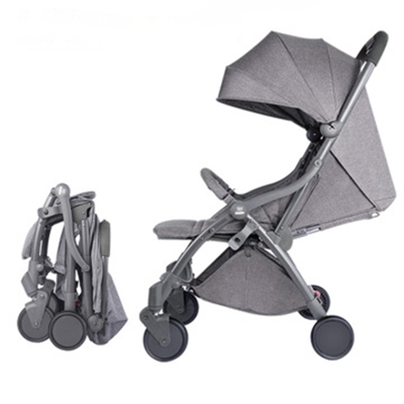 Automatic Light-weight Cart, Lightweight Folding, Sitting And Reclining, 0-5 Years Old Baby Carriage,children Portable Pram