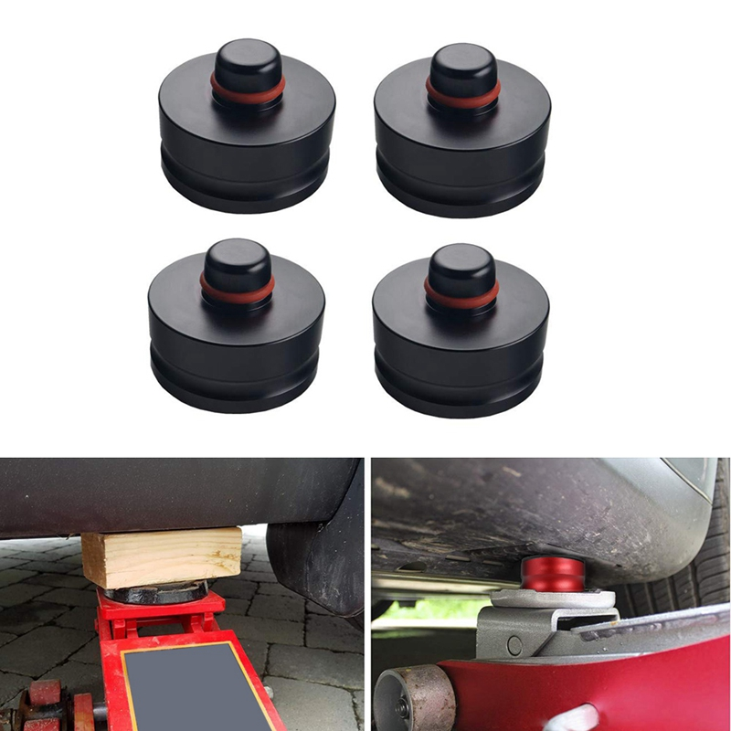 4 Pcs Jack Lift Point Pad Adapter Aluminum For Tesla Model 3 Models -Safely Raising Vehicle Protects Car Jack From Damaging Batt