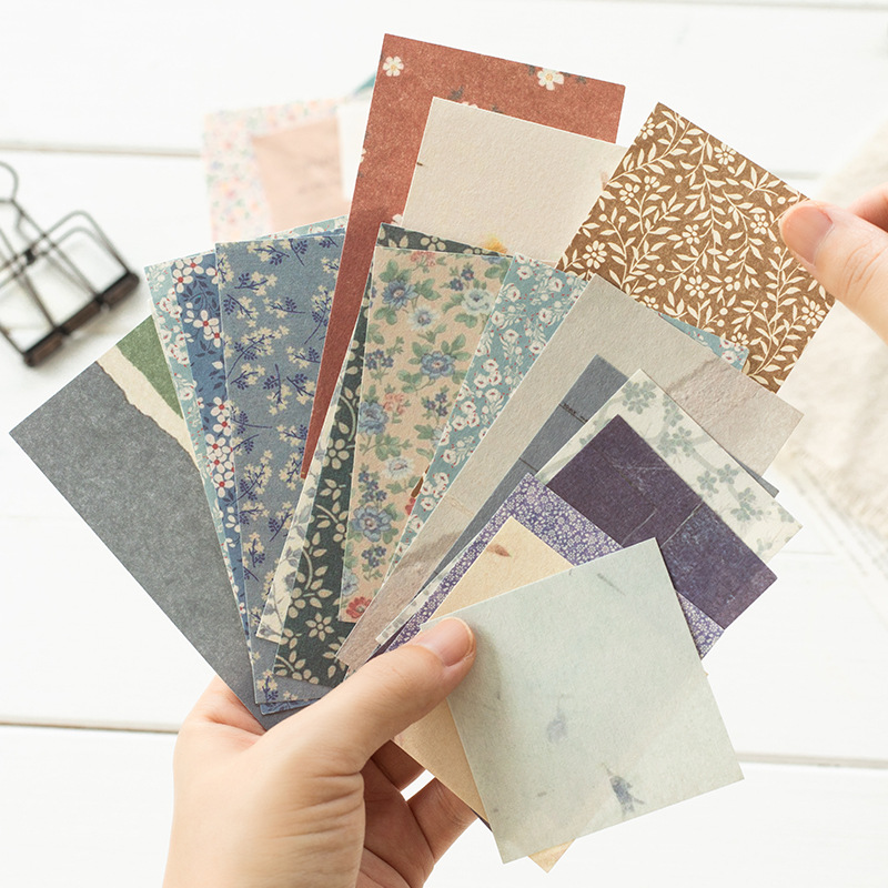 60 Pcs/Pack Retro Memo Pad Cute Journal Decoration Memo Paper Creative Scrapbook Message Paper Stationery School Office Supplies