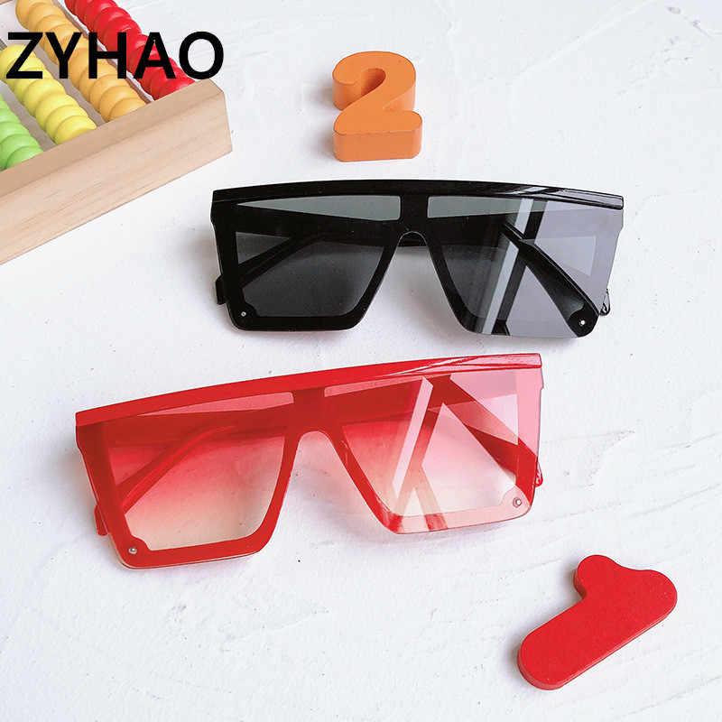 2020 패션 아이 대형 선글라스 어린이 플라스틱 샴 광장 선글라스 어린이 선글라스 소녀 소년 Okulary Oculos