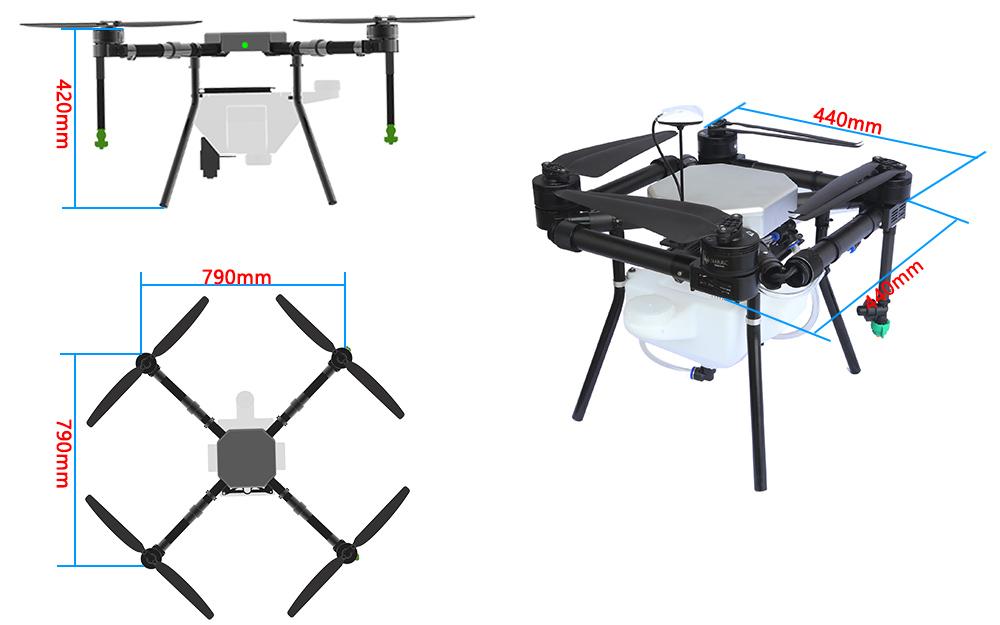 Automatic Fertilizer Spray Drone-5L Agriculture Spraying Drone-GPS-3