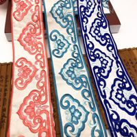 10Yards Colorful Embroidery Lace Trim Cheongsam Clothing Accessories Ethnic Embroidery Lace Ribbons