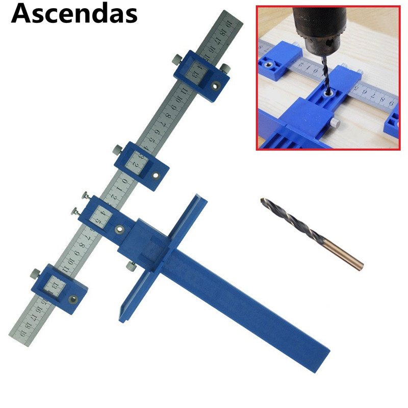 Cabinet Hardware Jig True Position Tool Fastest And Most Accurate Knob & Pull Jig Wood Drilling Dowelling Hole Saw Master Syst