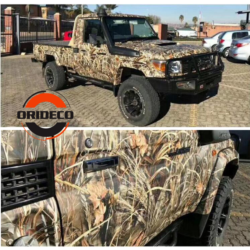 1.52*5/10/15/20/25/30M Real Tree Grass Camo Vinyl Sticker Grass Camouflage Vinyl Wrap For Car Truck Furniture Stickers