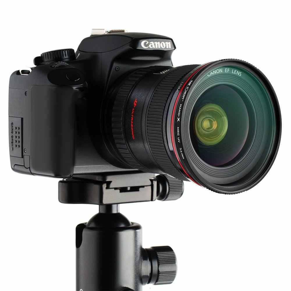 K & F Concept Lensa Filter UV Multi Dilapisi Perlindungan Nanotech Lapisan Ultra Slim 49mm 52mm 58mm 62mm 67mm 77mm