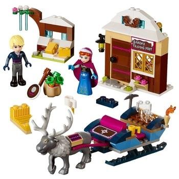 Frozen Snow World Series The Elsa`s Magical Ice Castle Set girls Building Blocks Bricks Toys Girl friend compatible 41148 3