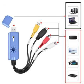 цены USB 2.0 Video Audio Capture Card Adapter VHS To DVD Converter For Win XP 7 NTSC PAL Convert Analog Video To Digital Format
