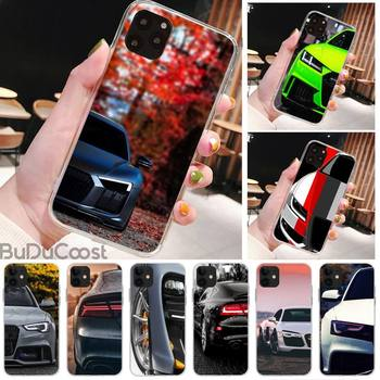 Riccu Luxury car Audi RS Phone Case for iPhone 11 pro XS MAX 8 7 6 6S Plus X 5S SE XR cover image