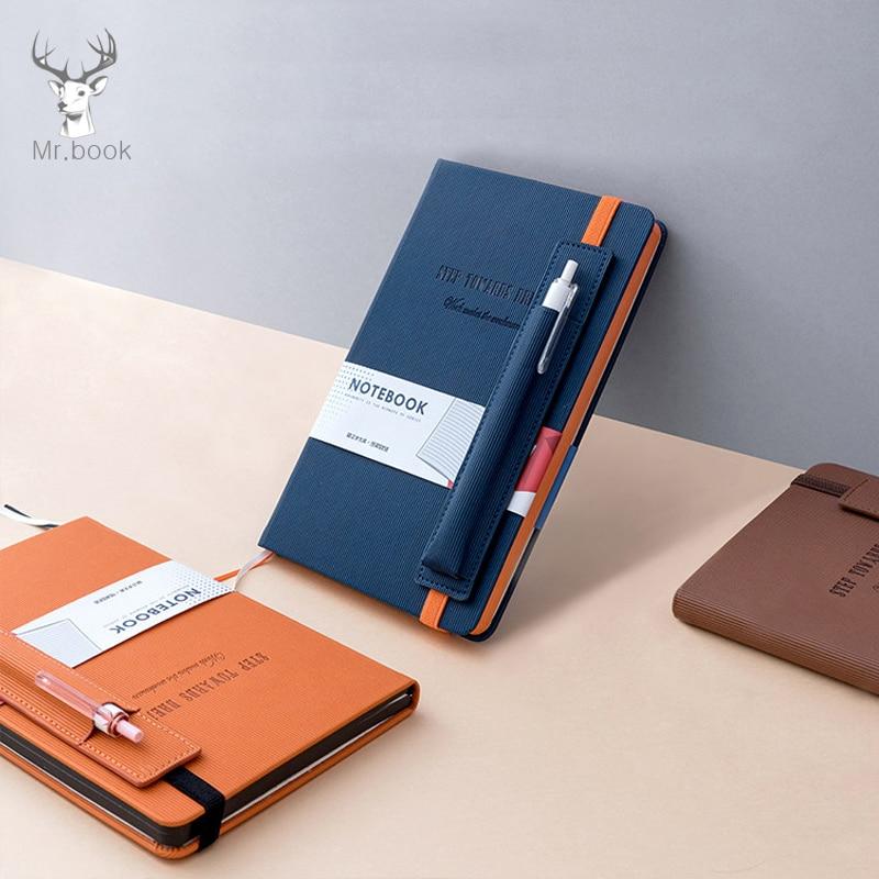 PU Leather Office Planner Business Notebook School Stationery Supplies 2020 Agenda Planner Organizer Pen Insert Bag NotebookNotebooks   -