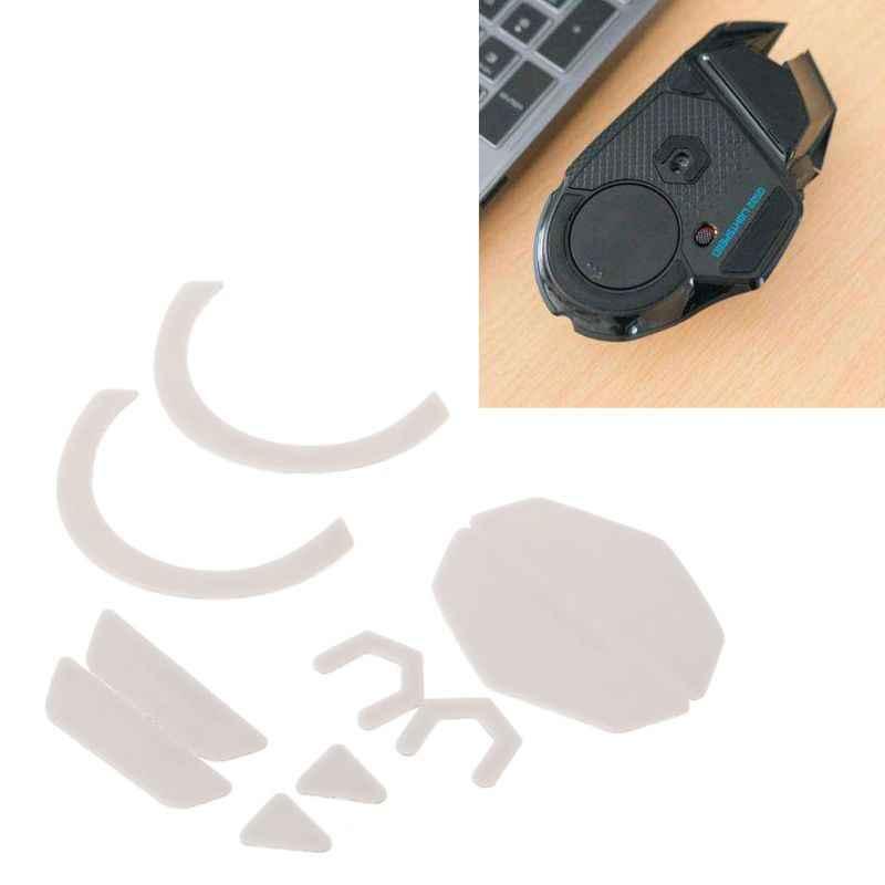 2 2 Sets/pack Tiger Gaming Mouse Kaki Mouse Skate untuk Logitech G502 Hero Lightspeed Wireless Gaming Mouse Putih Teflon Mouse
