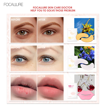 5pc FOCALLURE Collagen Crystal Eye Mask Face Mask Lip Mask Gel Eye Patches For Eye Bags Wrinkle Dark Circles Eye Pads Skin Care image