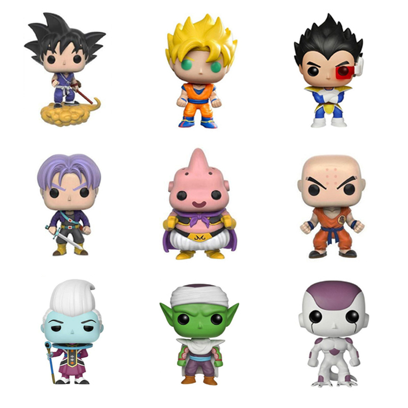 Funko Pop Dragon Ball Super Action Figures Goku Vegeta Collection Action Figures PVC Doll Model Toys For Kids Birthday Gift