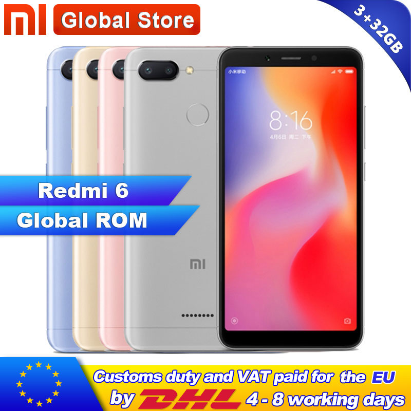 "Globale ROM Xiaomi Redmi 6 3GB 32GB Helio P22 Octa Core Handy 5,45 ""18:9 Volle Bildschirm 12.0MP + 5.0MP 3000mAh-in Handys aus Handys & Telekommunikation bei AliExpress - 11.11_Doppel-11Tag der Singles 1"