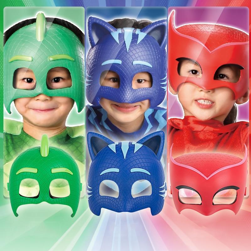 Pj Mask Juguete Anime Figures Model Pj Masks Costume Three Colors Catboy Owlette Gekko Outdoor Funny Kids Toys For Children S57