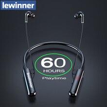 Lewinner 60 שעות סיבולת Bluetooth אוזניות סטריאו בס אוזניות אלחוטיות Neckband כוח LED תצוגת אוזניות TF כרטיס מגנט