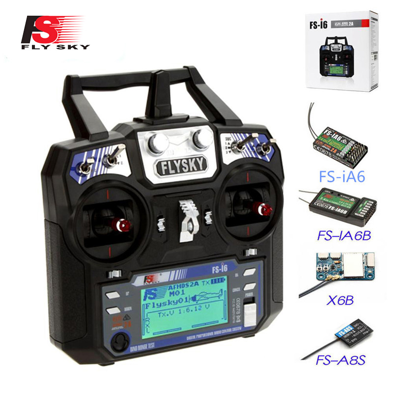 Flysky FS-i6 FS I6 2.4G 6CH AFHDS RC Transmitter With iA6B X6B A8S R6B iA6 Receiver Radio Remote Controller for RC FPV Drone
