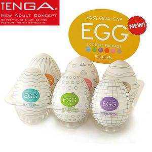 Tenga Portable Masturbation Eggs Silicone Masturbator for Men 6*5.5cm Stretchable Stimulating Penis Massager Adult Intimate Toys