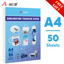 Sublimation wärme transfer papier A4 113g 50sheetsfor für Jede Inkjet Drucker mit Sublimation Tinte