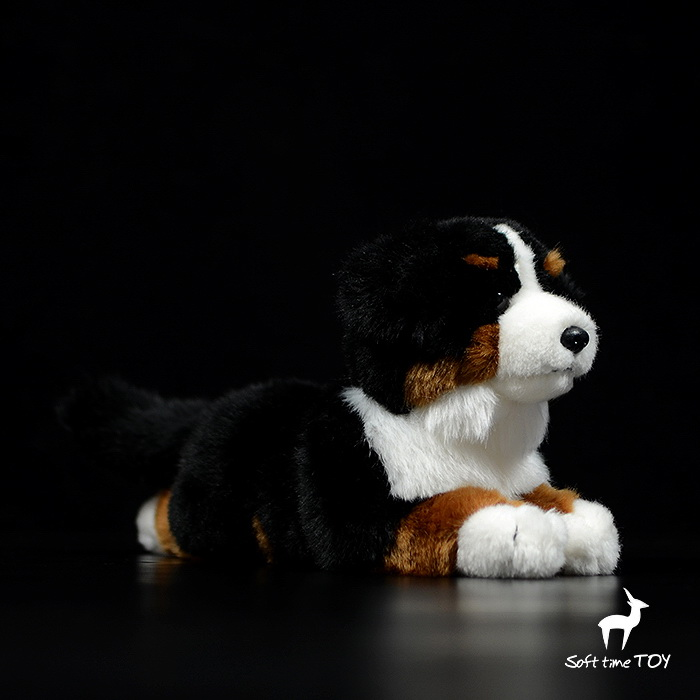 Real life plush toy lovely Bernese Mountain dog dolls kids toys birthday gifts for girlfriend soft