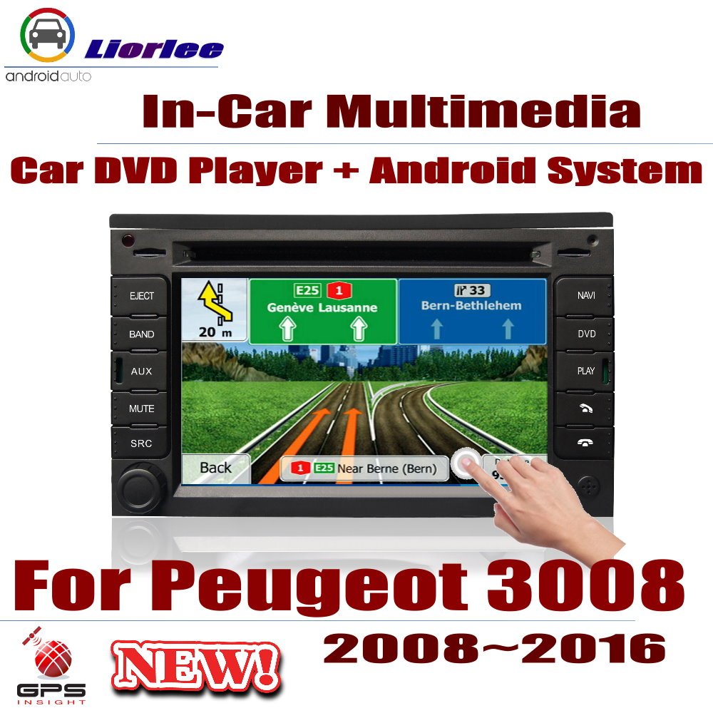 Auto DVD Player <font><b>GPS</b></font> Navigation <font><b>For</b></font> <font><b>Peugeot</b></font> <font><b>3008</b></font> 2008-2016 Car Android Multimedia System HD Screen Radio Stereo Head Unit image