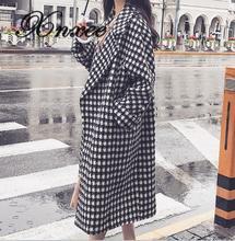 Xnxee New Autumn and Winter Wool Coat Long