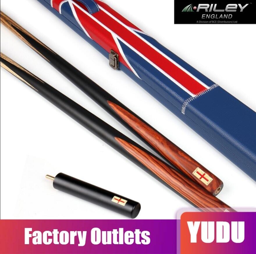 RILEY unique une pièce Snooker étui pour queue Set 9.5mm pointe avec Extensions noir Handmadeb professionnel Kit de bâton de billard chine