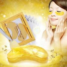 20 sztuk = 10 par złoty kryształ maska kolagenowa na oczy żel płatki pod oczy nawilżający przeciwzmarszczkowy pielęgnacja oczu złote maski do pielęgnacji skóry twarzy