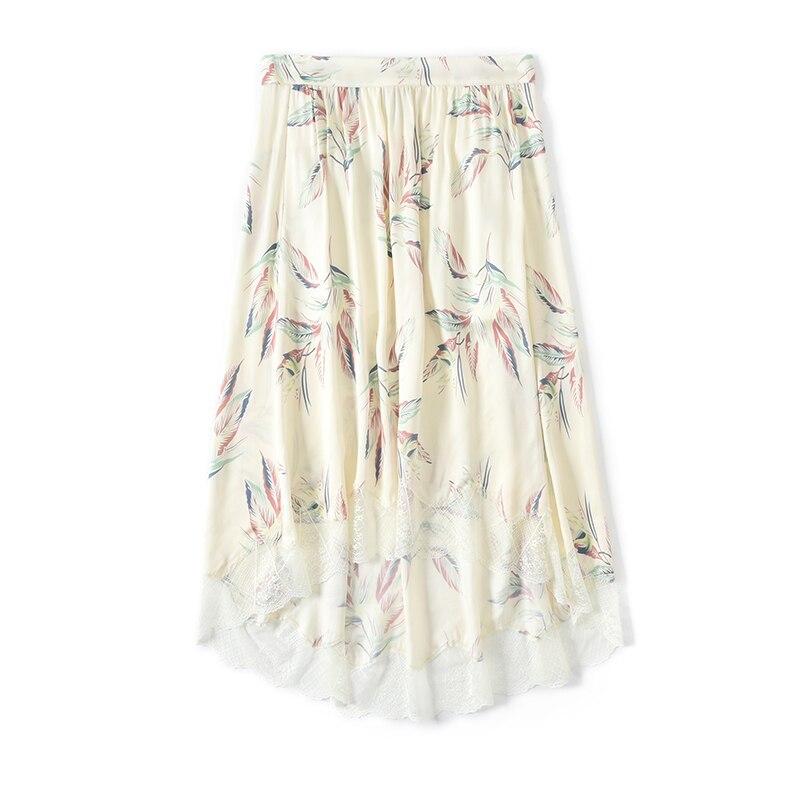 Haut pour femme impression col en V coloré papillons viscose dentelle lacets camis/jupes