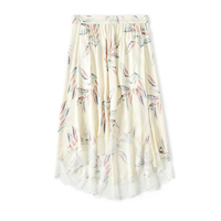 Women Tops Printing V neck colorful butterflies viscose lace laces camis /skirts