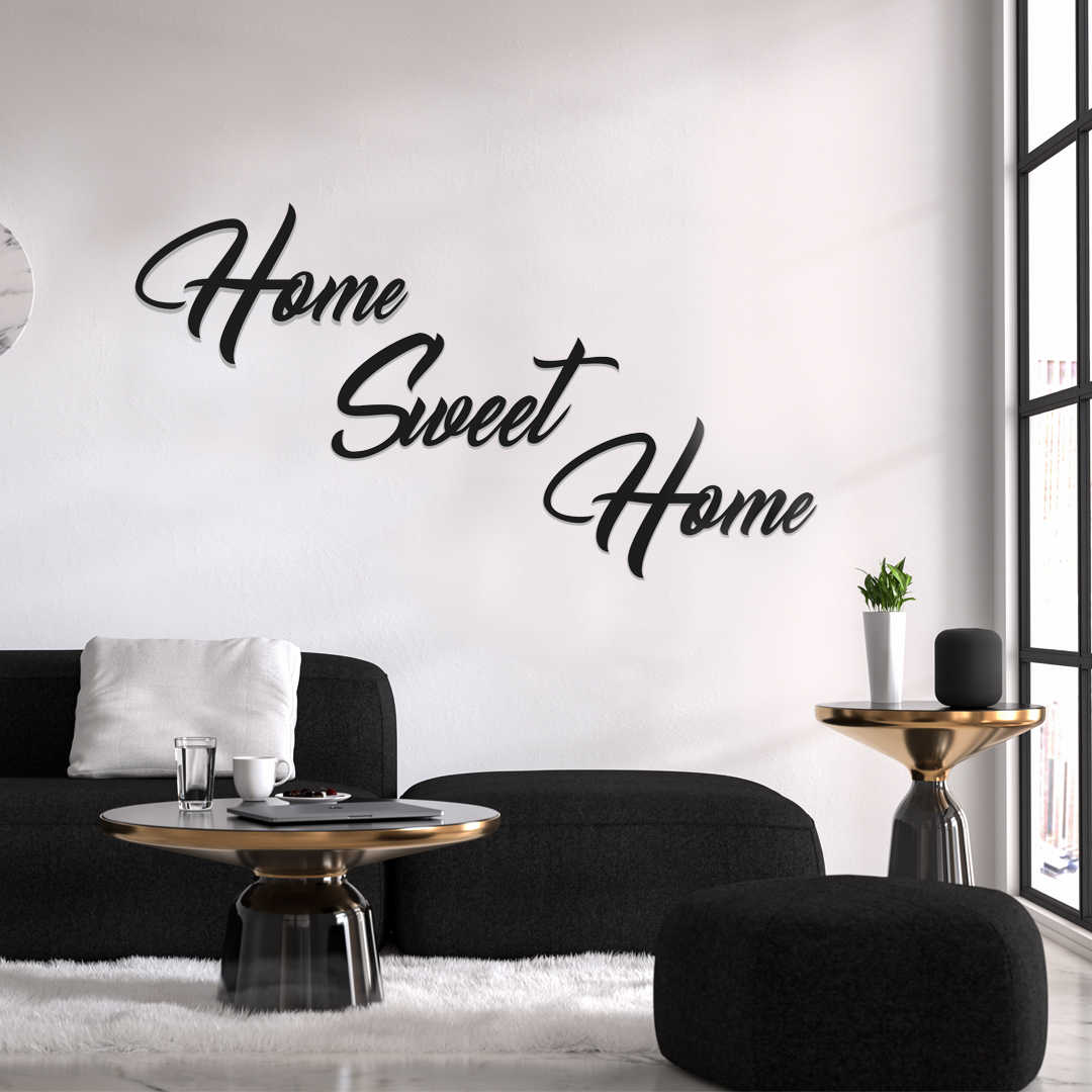 Metal Wall Decor And Art Home Sweet Home Interior Design Writings Words Wall Decor Metal Phrase Aliexpress