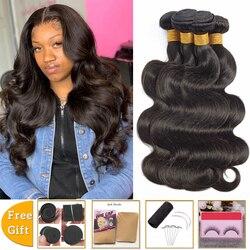 Оптовая продажа, человеческие волосы lanqi, пряди, волнистые волосы, 4 пучка, неповрежденные волосы для наращивания, перуанские бразильские пу...