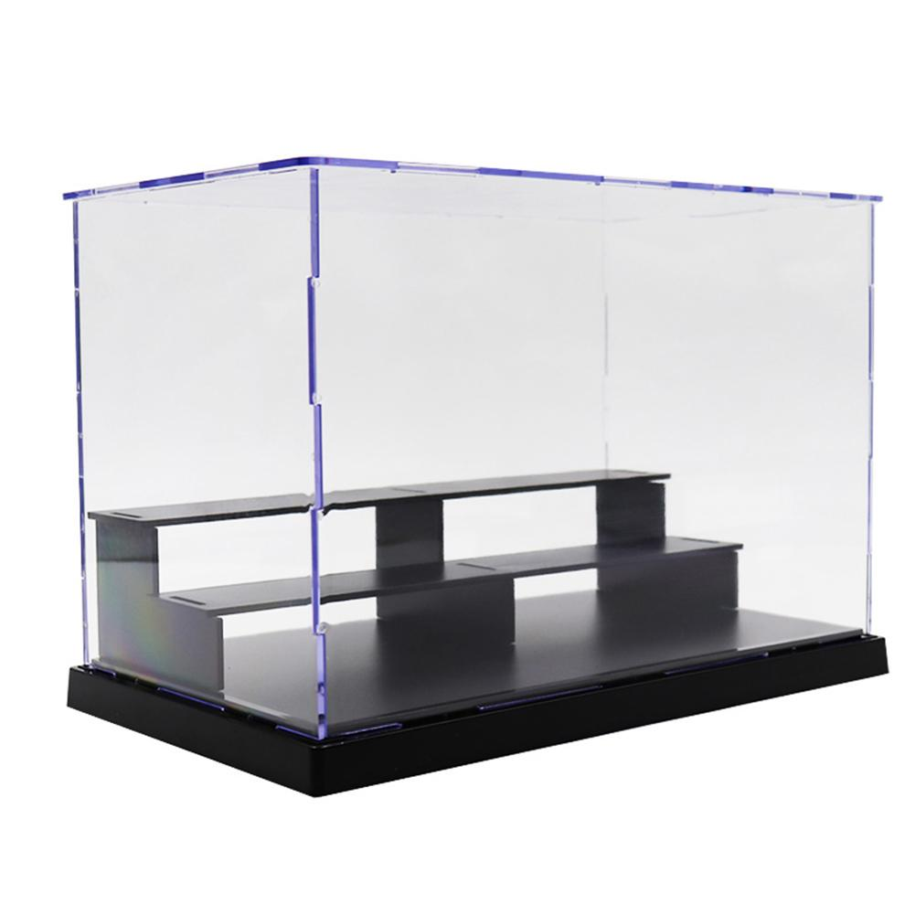 25*14.5*17cm 3-Tier Dustproof Clear Acrylic Action Figure Model DIY Display Case Storage Box Gift For Kids Children