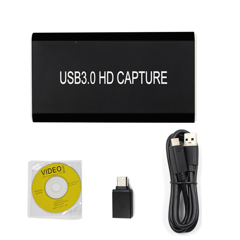 HDMI To USB3.0 HDMI Video Capture Converter HD Game Video Live Streaming Record 1080p 60fps Support OBS Studio Windows Mac Linux