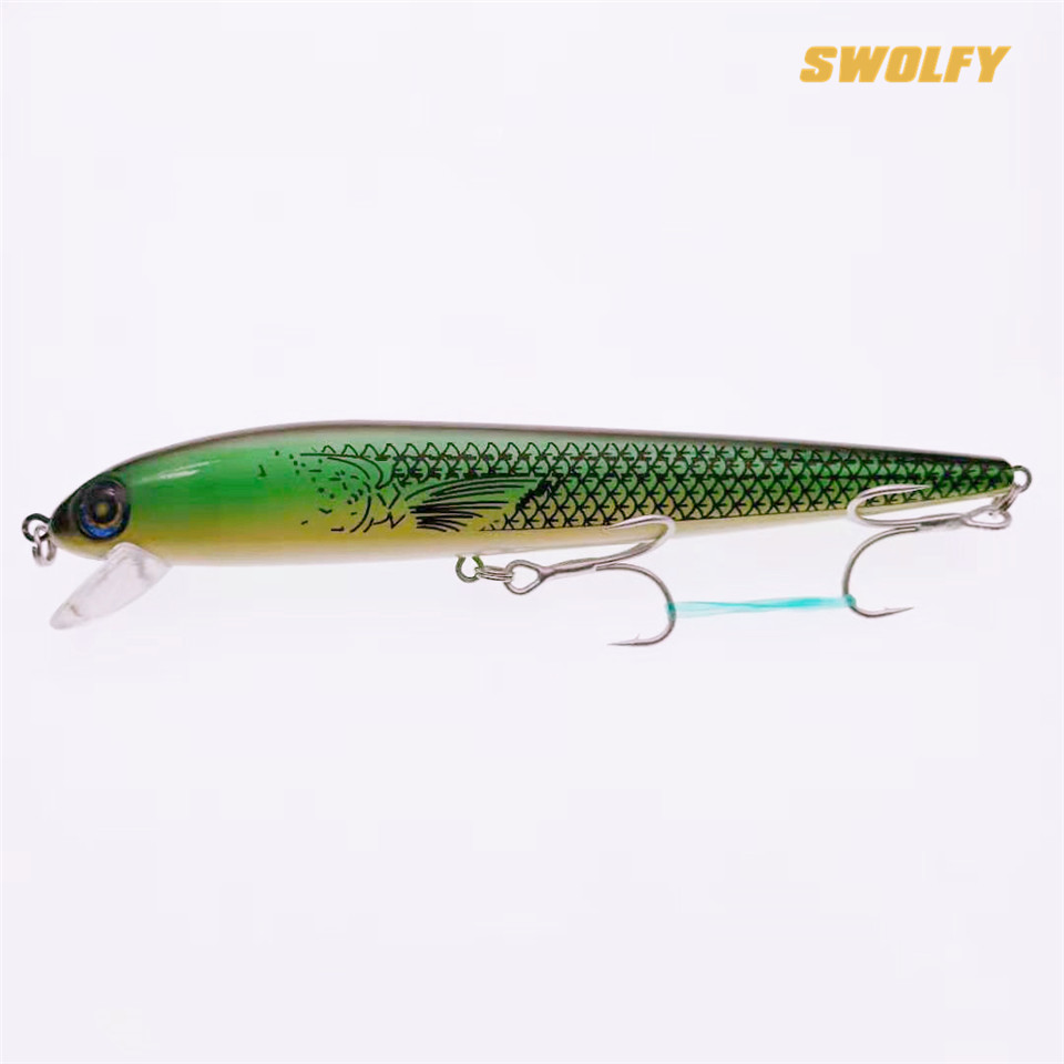 SWOLFY Minnow Fishing <font><b>Lure</b></font> Wobbler <font><b>180mm</b></font> 29g Floating Hard <font><b>Lure</b></font> Artificial Sea Bass Bait Fishing Tackle image