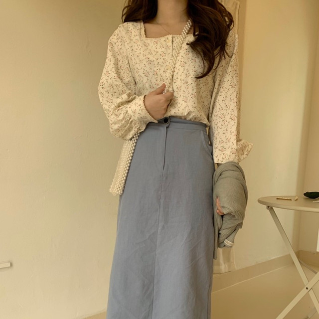Joinyouth Square Collar Women Tops and Blouses Fashion Vintage Chic Chiffon Blusas Mujer 2020 Button Sweet Shirts New J482 3