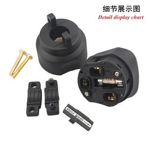 Image 3 - XangSane HI UK Британский стандарт позолоченный/позолоченный guy fever шнур питания штепсельная вилка hifi аудио кабель 13A 250В