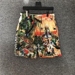 Мужские и женские пляжные шорты, повседневные шорты с принтом животных, B703, лето 2020