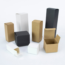 50pcs/packaging box cosmetics packaging gift box essential oil bottle Kraft box white card black card box available custom size