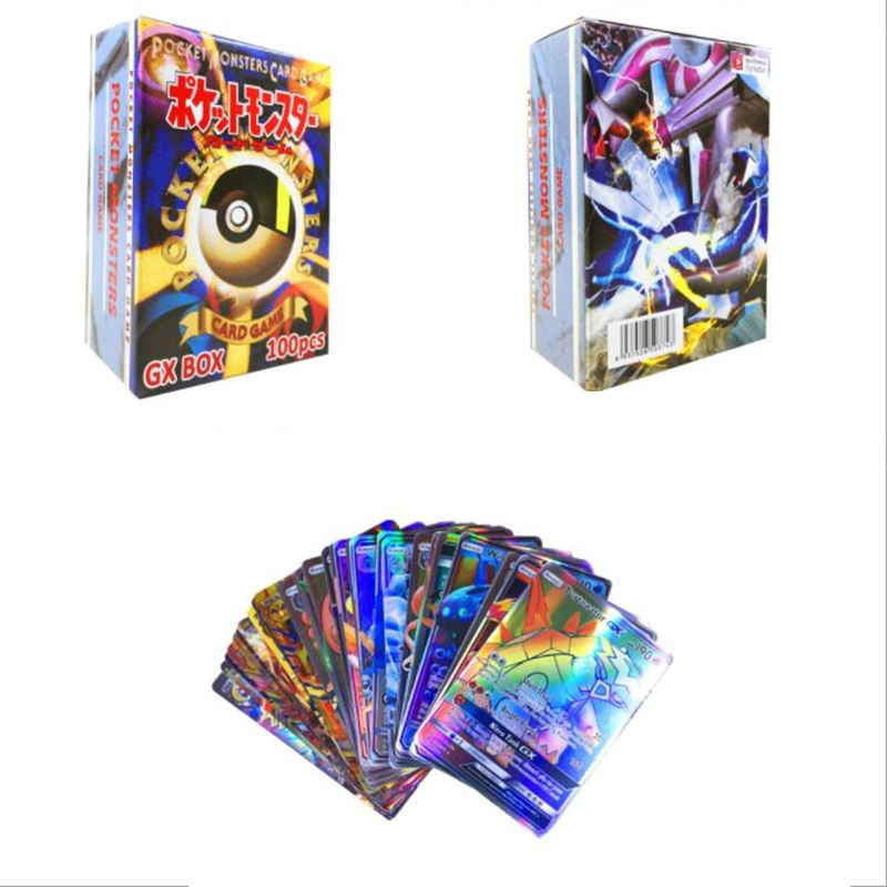200pcs GX EX MEGA Shining Carte Cards Game Battle Carte No Repeat Pikachu Card Game For Children's Chrismas Birthday Gift